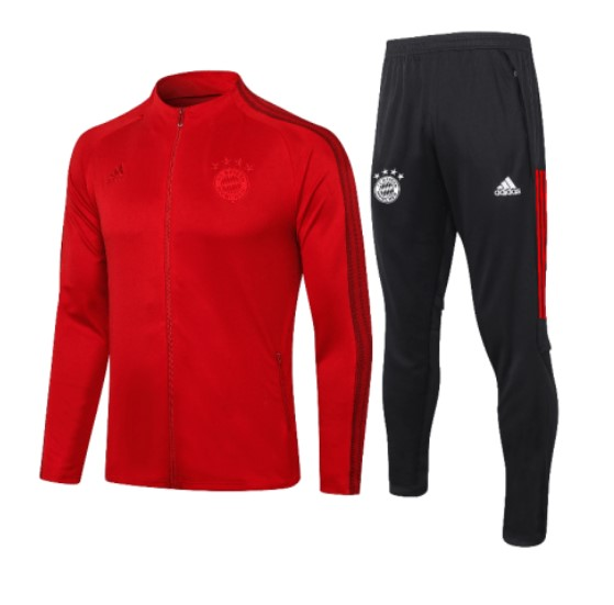Спортивный костюм Бавария (FC Bayern Munchen) Adidas красный сезон 2020-2021